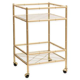 One Kings Lane™ Open House Huntley Bar Cart in Aged Gold   Bed Bath & Beyond