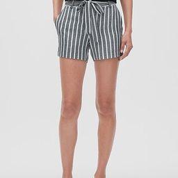 Tie-Waist Tailored Shorts - 4 inch inseam   Banana Republic Factory