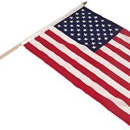 "Super Tough USA1218HF 516_S_T_C US Flag 12"" x 18"" with 24"" Wood Stick | Amazon (US)"