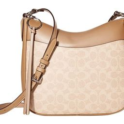 COACH Coated Canvas Signature Chaise Crossbody (LH/Sand Taupe) Cross Body Handbags   Zappos