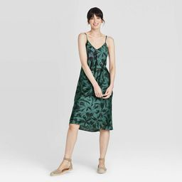 Women's Sleeveless Satin Slip Dress - A New Day™ | Target