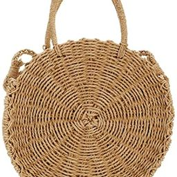 Rattan Handmade Straw Tote Handbag Beach Shoulder Bag Summer Beach Rattan Bag Straw Bag   Amazon (US)