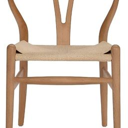 Tomile Wishbone Chair Y Chair Solid Wood Dining Chairs Rattan Armchair Natural (Beech-Natural Woo... | Amazon (US)