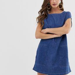 Mango shift denim dress-Blue | ASOS (Global)