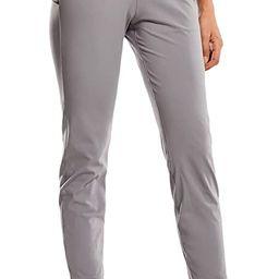 Women's Stretch Lounge Sweatpants Travel Ankle Drawstring 7/8 Athletic Track Yoga Dress Pants | Amazon (US)