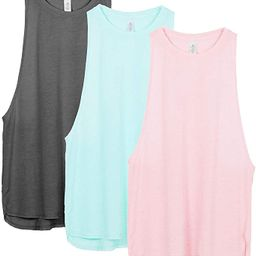 Workout Tank Tops for Women - Running Muscle Tank Sport Exercise Gym Yoga Tops Athletic Shirts(Pa... | Amazon (US)