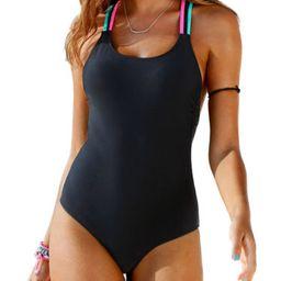 Womens Swimming Costume Padded Monokini Swimsuit Swimwear Push Up Bikini Bathing | Walmart (US)