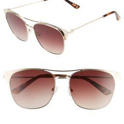 56mm Gradient Aviator Sunglasses | Nordstrom