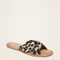 Knotted-Twist Slide Sandals for Women | Old Navy (US)