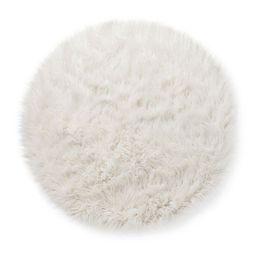 3' Faux Fur Round Rug White - Pillowfort™ | Target
