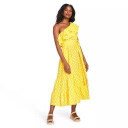 Women's Polka Dot One Shoulder Dress - Lisa Marie Fernandez for Target (Regular & Plus) Yellow/Wh... | Target