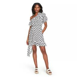 Women's Polka Dot One Shoulder Dress - Lisa Marie Fernandez for Target (Regular & Plus) White/Bla... | Target