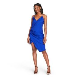Women's Leopard Print Wrap Slip Dress - CUSHNIE for Target (Regular & Plus) Royal Blue | Target