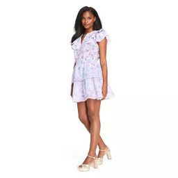Women's Lou Double Ruffle Dress - LoveShackFancy for Target (Regular & Plus) Lavender Purple | Target