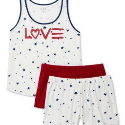 EV1 from Ellen DeGeneres Women's Tank and 2 Boxer Shorts Sleep Set, 3-Piece | Walmart (US)