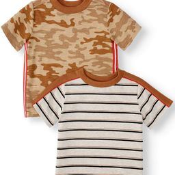 Wonder Nation Toddler Boy Short Sleeve Graphic T-Shirt, 2 pk | Walmart (US)