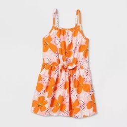 Toddler Girls' Tank Top Tie-Front Floral Dress - Cat & Jack™ Pink | Target