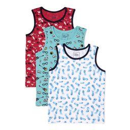 Jachs Boys Printed Tank Top 3 Pack Sizes 4-16 | Walmart (US)