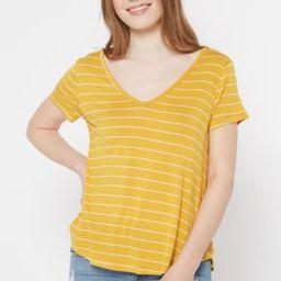 Mustard Striped Favorite V Neck Tee | rue21