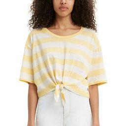 Women's Levi's® Fiona Knot-Front Tee  Color: Ava Stripe Pale Banana Size: Choose ... | Kohl's