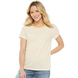 Women's SONOMA Goods for Life® Graphic Tee  Color: Yellow Stripe Size: Choose a S... | Kohl's