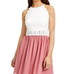 Juniors' Lace & Chiffon Dress   Macys (US)
