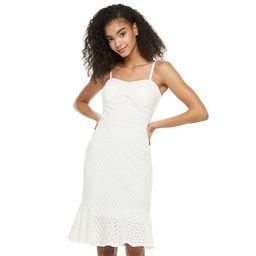 Juniors' Lily Rose Knit Eyelet Bodycon Midi Dress                ... Color: White   ...   Kohl's