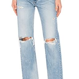 Moussy Vintage Odessa Straight in Blue from Revolve.com   Revolve Clothing (Global)