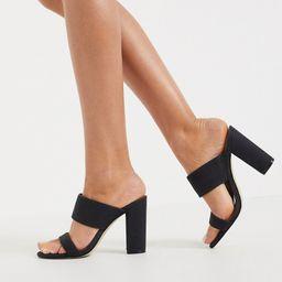 Call It Spring by ALDO Falelia perspex heeled sandal in black | ASOS (Global)