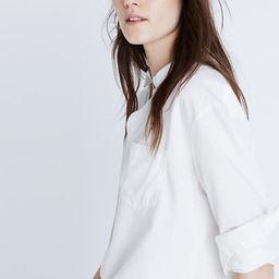 Drapey Oversized Boyshirt in Pure White | Madewell