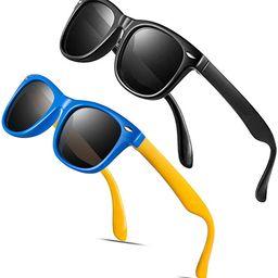 Baby Sunglasses Rubber Kids Polarized Sunglasses - FEIDU Fit Shades Glasses for Boys Girls toddle... | Amazon (US)