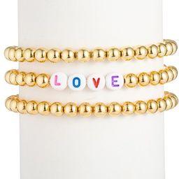 Love Titanium Beaded Bracelet Set   Nordstrom Rack