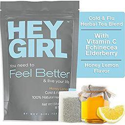 Feel Better Herbal Tea - Immune Support, Immune Booster w/Echinacea, Elderberry, Vitamin C, Ginse...   Amazon (US)