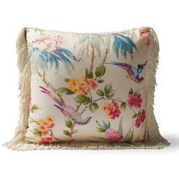 Scalamandre Bird Song Peony Indoor/Outdoor Pillow | Frontgate | Frontgate
