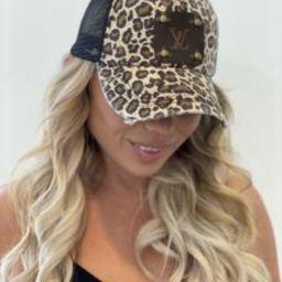 Black leopard Hat | Vintage Boho