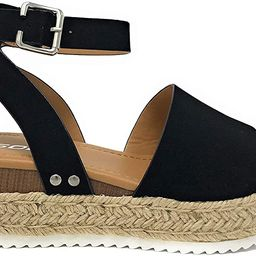 Womens VALETT Open Toe Casual Ankle Strap Sandals | Amazon (US)