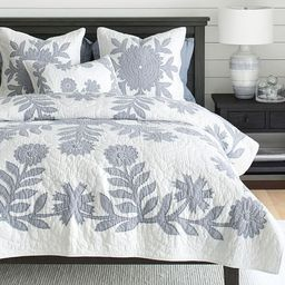 Lilo Handcrafted Cotton Quilt - Chambray | Pottery Barn (US)