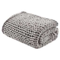 Madison Park Chunky Double Knit Throw Blanket in Grey | Bed Bath & Beyond