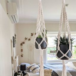 Macrame Plant Hangers - Small, Large, Duo, Double or Trio / Plant Hangers | Etsy (US)