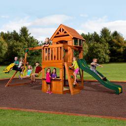 Backyard Discovery Atlantis Cedar Wooden Swing Set | Walmart (US)