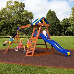 Backyard Discovery Dayton Cedar Wooden Swing Set | Walmart (US)