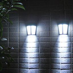 EEEKit 2/1 Pack - Solar Power LED Lights Outdoor Waterproof Wall Lamp, Wall Mounted Solar Lights,... | Walmart (US)
