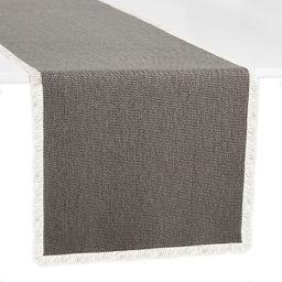 Artisanal Kitchen Supply® Rustic Fringe Table Runner   Bed Bath & Beyond