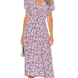 FAITHFULL THE BRAND Marie Louise Midi Dress in Nefeli Floral from Revolve.com | Revolve Clothing (Global)