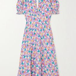 Marie-Louise floral-print crepe midi dress | Net-a-Porter (US)