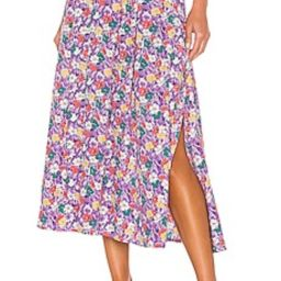 FAITHFULL THE BRAND Cuesta Midi Skirt in Nefeli Floral from Revolve.com | Revolve Clothing (Global)