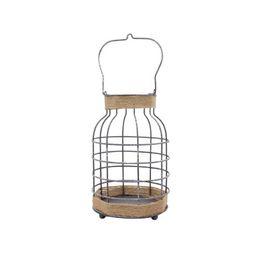 "10"" Beige and Silver Large Burlap Cage Lantern | Walmart (US)"