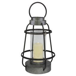 Stonebriar Industrial Metal Hurricane Candle Lantern, Tall | Target