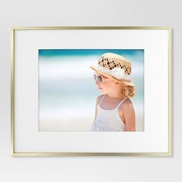 Thin Metal Matted Gallery Frame Gold - Project 62™ | Target