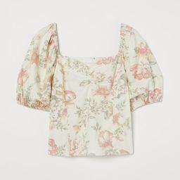 Linen-blend Top | H&M (US)